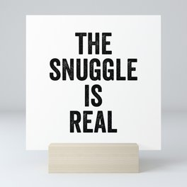 The snuggle is real Mini Art Print