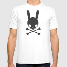 SKULL BUNNY OF PIRATES Mens Fitted Tee MEDIUM White