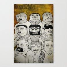 Los cabeza de cubo Canvas Print
