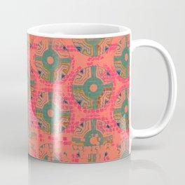 Living Coral Mexican Mosaic Coffee Mug