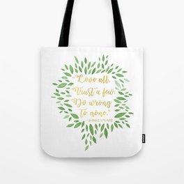 Love All, Trust Few, Shakespeare Tote Bag