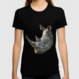 Low poly Rhinocerous T-shirt