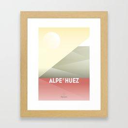 Alpe d'Huez / Cycling Framed Art Print