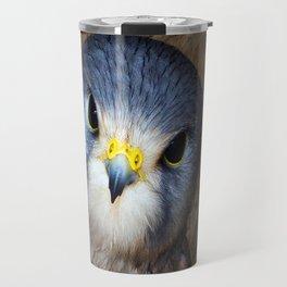Kestrel in close-up Travel Mug