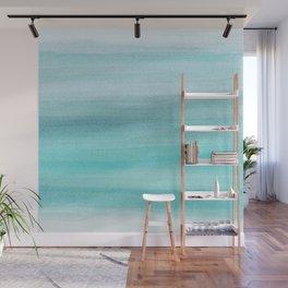 Aqua Blue Watercolor Dream #1 #painting #decor #art #society6 Wall Mural