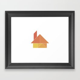 Tangram / House Framed Art Print