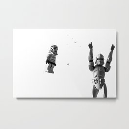 Starwars in space  Metal Print