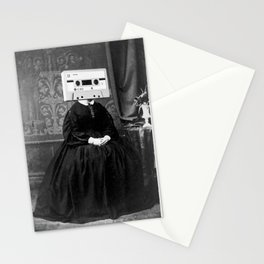 Faces of the Past: Audio Cassette Stationery Cards