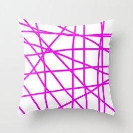 Doodle (Magenta & White) Throw Pillow