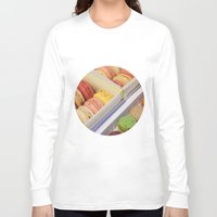 macarons Long Sleeve T-shirts featuring Macarons galore by in my closet