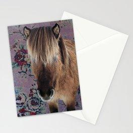 floral Icelandic pony Stationery Cards