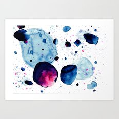 Moon Speckles Art Print