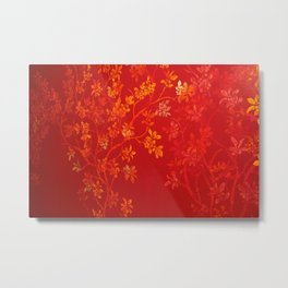 Gold Cherry Blossoms Metal Print