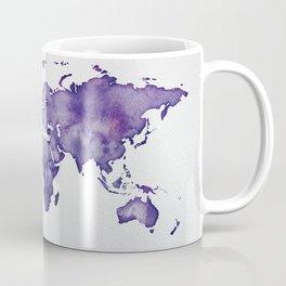 Purple World Map 01 Coffee Mug