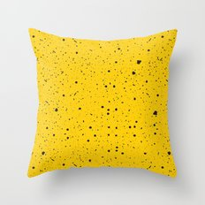 Speckled Yellow Throw Pillow