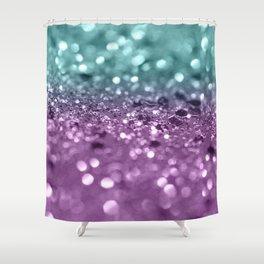 Aqua Purple MERMAID Girls Glitter #2 #shiny #decor #art #society6 Shower Curtain