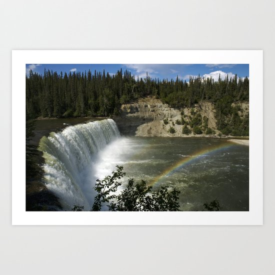 Lady Evelyn Falls Art Print