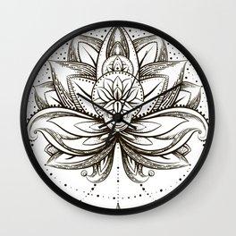 Lotus Wall Clock