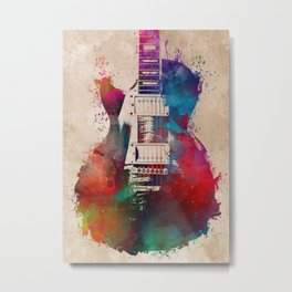 guitar art #guitar Metal Print