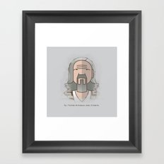SOMETIMES THERE'S A MAN… Framed Art Print