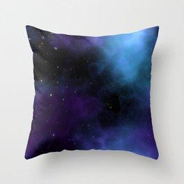 Starfield Nebula Space Expanse Throw Pillow