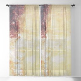 Sunny Landscape Abstract Sheer Curtain