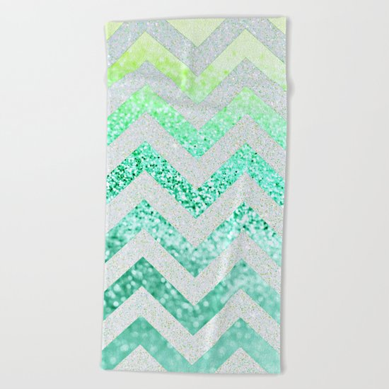 FUNKY MELON SEAFOAM Beach Towel