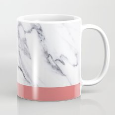 Marble Pink Coral Luxury iPhone Case and Throw Pillow Design Mug