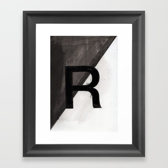 - R - Framed Art Print