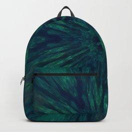 Blue Green Marine Flower Backpack