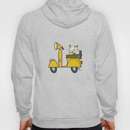 cat on a scooter Hoody