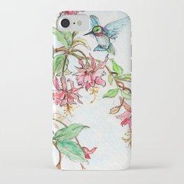 Honeysuckle Hummingbird iPhone Case