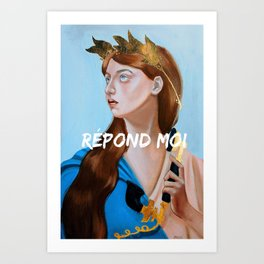 Allegory of a phonecall Art Print