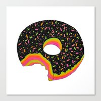 donut Canvas Prints featuring Donut by Luna Portnoi