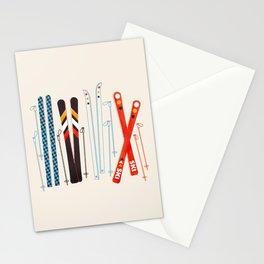 Retro Ski Illustration Stationery Cards