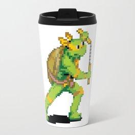 Pixelated Teenage Mutant Ninja Turtles (TMNT) - Michaelangelo Travel Mug