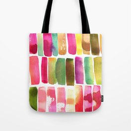 Watercolor Stripes Tote Bag