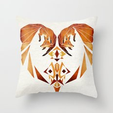 foxes heart  Throw Pillow