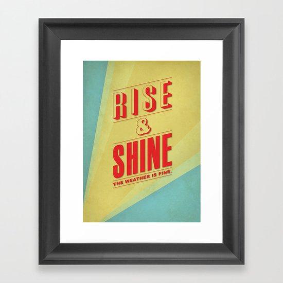 Rise&Shine Framed Art Print