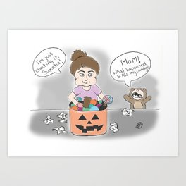 Just Checking the Candy - Apparently a Mom Art Print