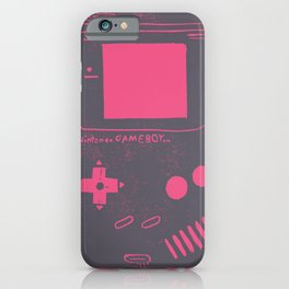 Game Boy on pink iPhone Case