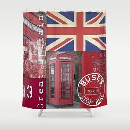 Great Britain London Union Jack England Shower Curtain