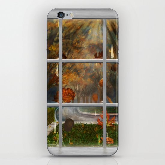 One Rainy Day In The Fall - Painting iPhone & iPod Skin