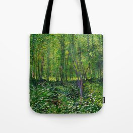 Vincent Van Gogh Trees and Undergrowth 1887 Tote Bag