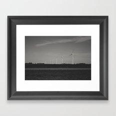 wind-powered Framed Art Print