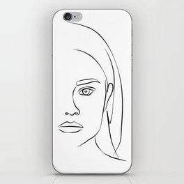 ''Profile Collection''- Woman Profile Print iPhone Skin