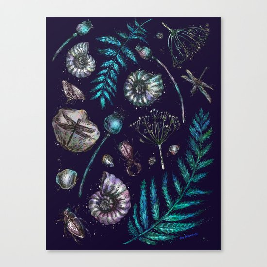 Mystical natural pattern Canvas Print