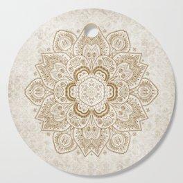 Mandala Temptation in Cream Cutting Board