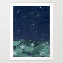 wishing on stars Art Print