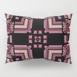 Abstract Pink Black Square Multi Pattern design Pillow Sham